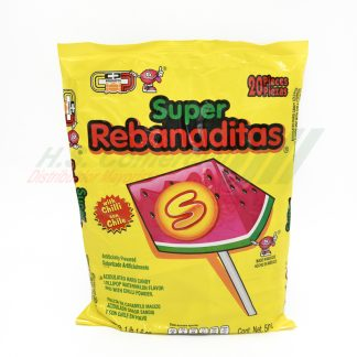 Candy pop REBANADITAS c/CHILE 40 pzas