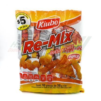 Gonac Kiubo RE-MIX QUESO/CHILE 10 pzas